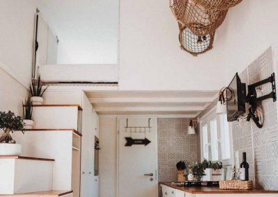 Wohnbereich Tiny House Lebenshof Alpakas